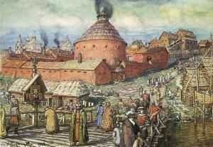 А.М. Васнецов. Пушечно-литейный двор на Неглинной. 17 век.