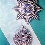 Знак и звезда ордена Андрея Первозванного