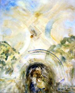 Д.П. Федорин. Поездка в Ассизи, холст, масло,114х84,1998 г.