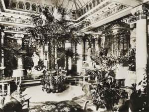 Пречистенка. Особняк А.И.Коншиной. Интерьер Зимнего сада. 1910.