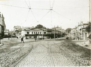Угол Пречистенки и Остоженки. 1913 г.
