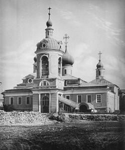 Волхонка. Церковь Антипия на Колымажном дворе. Н.А. Найденов. 1882.